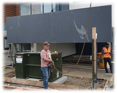 SL7 DG Panels were used for a 240/240/240 FRR blast protected wall to isolate a transformer near boundary.