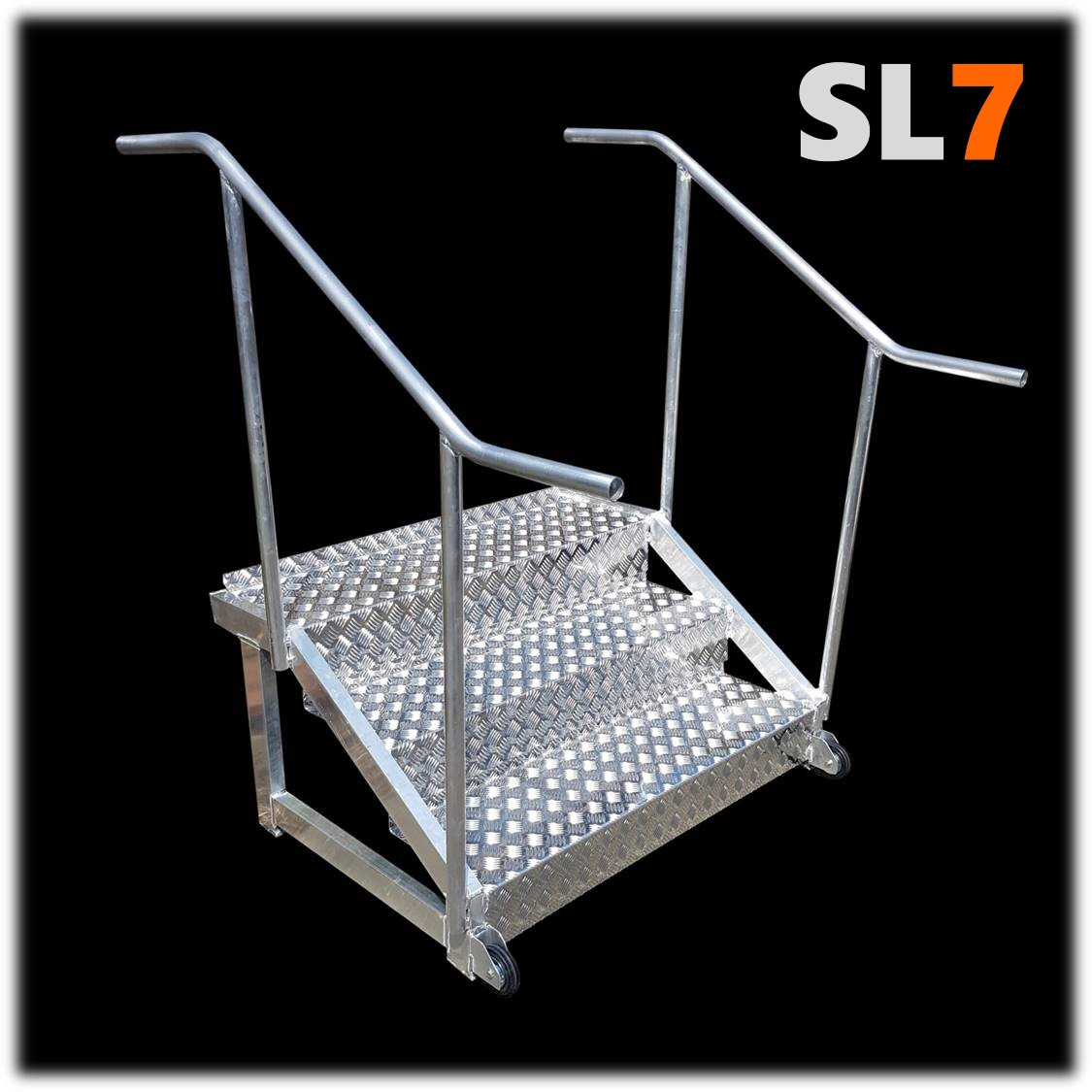 SL7 offers steps as an optional purchase for those clients wanting an ergonomic walkway into the SL7 Vaults.
